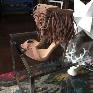 Shoes - JustFab Fringe Heels Size US 9