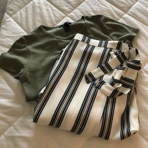 NWOT - Striped Wrap Skirt