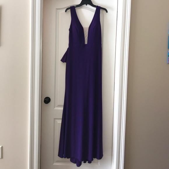 daea3f9bb39fa Xscape Dresses | Brand New Purple Promformal Dress From Dillards ...