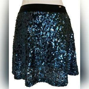 Aeropostale Aero Ladies Blue Sequin Skirt Size XS