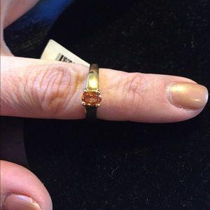 SOLID 14K GOLD!!! Orange GARNET RING BEAUTIFUL💍💋