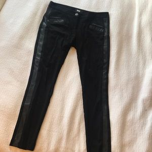 Paige ponte leggings with leather detail