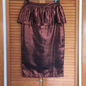 👍holiday giveaway sale😀ASOS metallic midi skirt