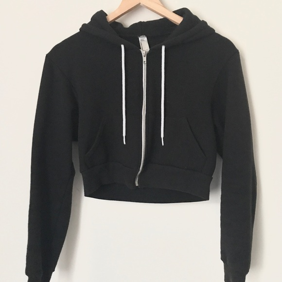 e609938218 American Apparel Tops - American apparel Flex Fleece Cropped Zip Hoodie