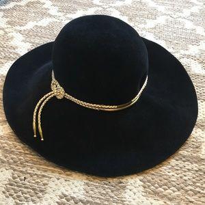 Eugenia Kim 100% rabbit fur black floppy hat