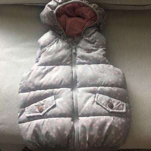 Zara baby girl puffy vest