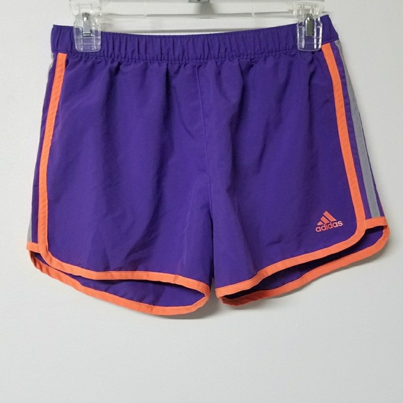 Adidas Frauen kleine lila orange athletische Shorts
