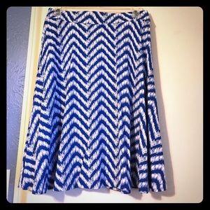 NY&C blue and white skater style skirt