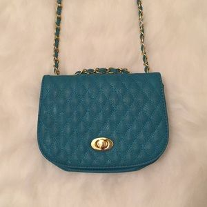 Blue Urban Expressions Quilted Crossbody Purse Bag