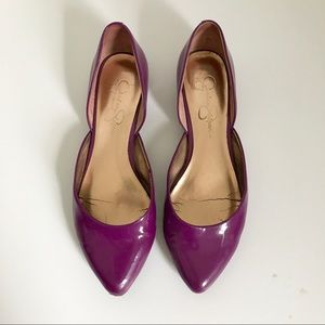 Jessica Simpson Purple Patent Leather Flats Sz 7.5