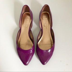 Jessica Simpson Purple Patent Leather Flats Sz 7.5
