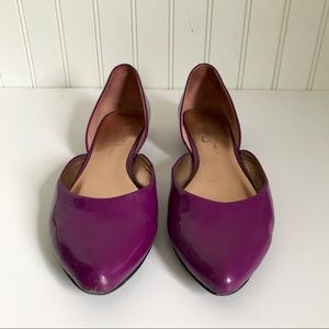 Jessica Simpson Shoes - Jessica Simpson Purple Patent Leather Flats Sz 7.5