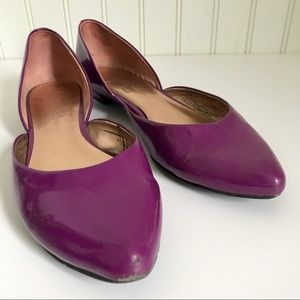 Jessica Simpson Shoes - Jessica Simpson Purple Patent Leather Flats Sz 7.5