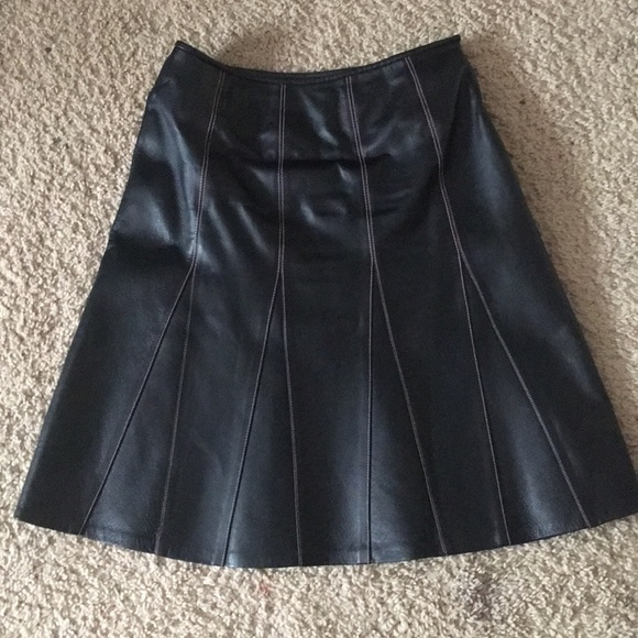 770907fa83c7 metrostyle Skirts | Authentic Real Leather Skirt | Poshmark