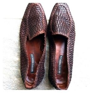 Woven Italian Leather Loafers