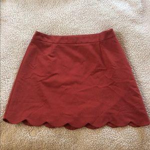 Asos Antique Rose Scalloped Skirt