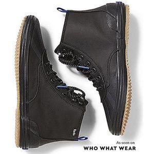 Keds scout splash black rain boots