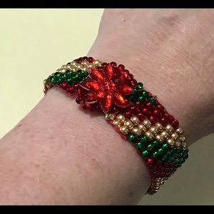 Jewelry - Handmade Striped holiday bracelet