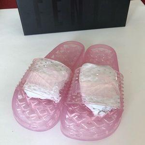 New Puma X Fenty By Rihanna Pink Jelly Slides