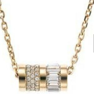 Michael Kors Gold Barrel Pendant Necklace