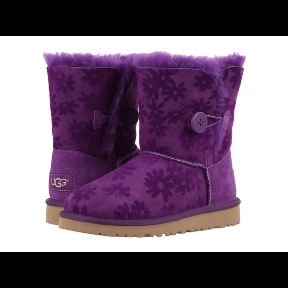 5f95080fd3f Authentic UGG Toddler Bailey Button Flowers