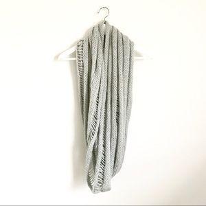 Akira Gray Chunky Knit Infinity Scarf Cozy
