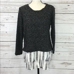Style & Co Gray Paris Long Sleeve Sweater NWOT