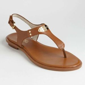 MICHAEL Michael Kors Brown Leather Sandals