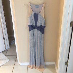 Gray blue and beige dress size small