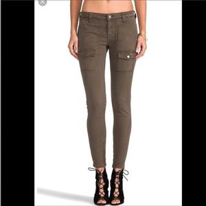 Joie military green skinny jeans
