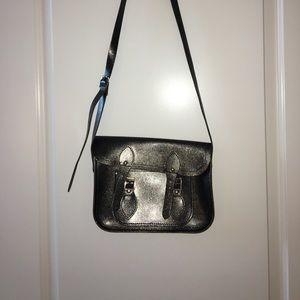 Black sparkly mini Cambridge Satchel