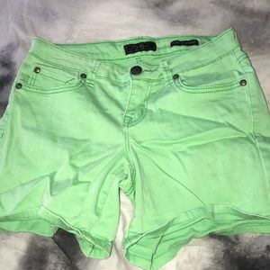 Green shorts from Buckle