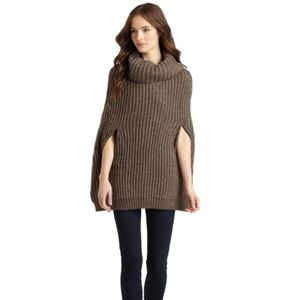 BCBG Max Azria Dusk Gray Harvey Knit Poncho