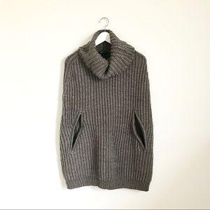 BCBGMaxAzria Sweaters - BCBG Max Azria Dusk Gray Harvey Knit Poncho