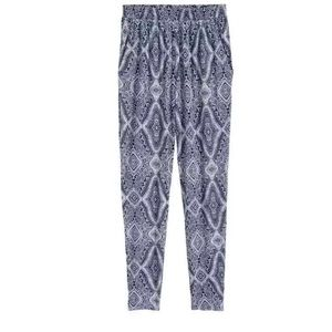 Blue patterned joggers