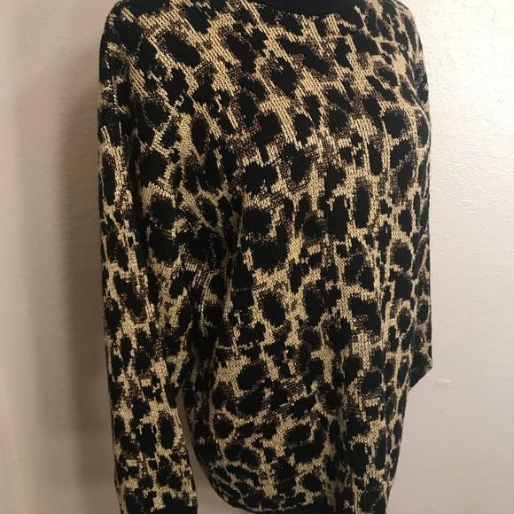Vintage Sweaters - Vintage sparkly leopard sweater