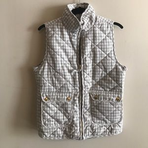 Grey and whit plaid vest
