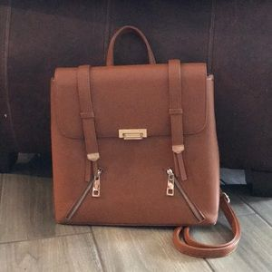 "Handbags - Brown ""leather"" backpack"