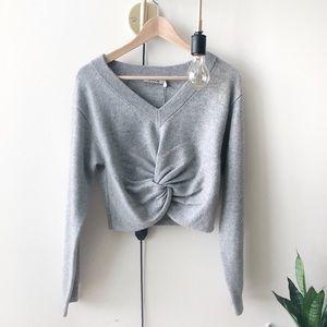 🆕 Alexander Wang gray front twist sweater