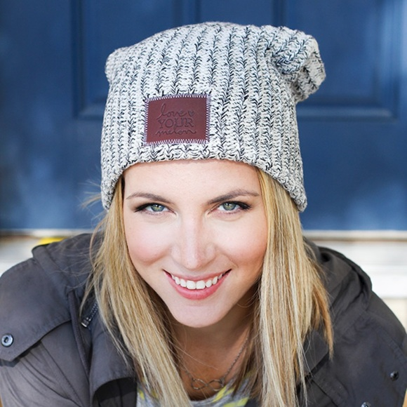 a405f99544c86 love your melon Accessories - Love your Melon Navy Speckled Beanie