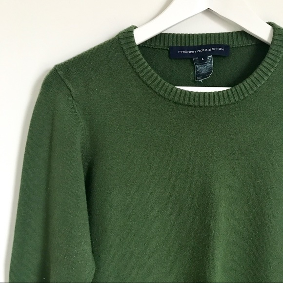 French Connection Sweaters - French Connection Hunter Green Crewneck Sweater M