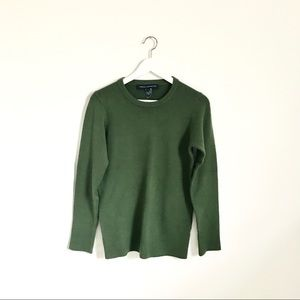 French Connection Hunter Green Crewneck Sweater M