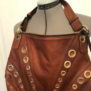 Cole Haan leather hobo handbag