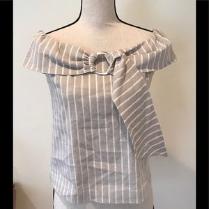 WORTH striped cotton top