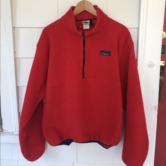 L.L. Bean - L.L. Bean vintage red fleece pullover size large. from ...