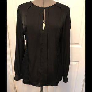 Trina Turk silk open sleeve blouse