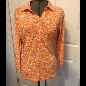 J. McLaughlin 3/4 sleeve pullover shirt