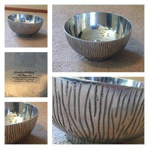 Other - Silver zebra bowl Chill-Warm-Serve
