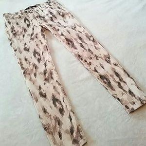 Joe's Jeans Leopard Print Skinnies