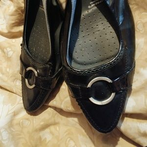 Rockport Black Patent Leather Sling Back Shoes